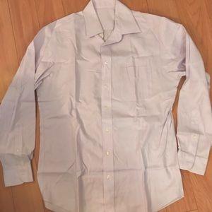 JoS A Bank Lilac Longsleeve Dress Shirt, M